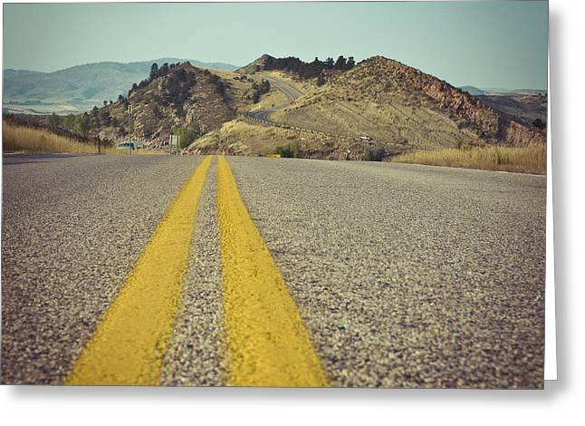 Winding American Highway Greeting Card by Ray Devlin