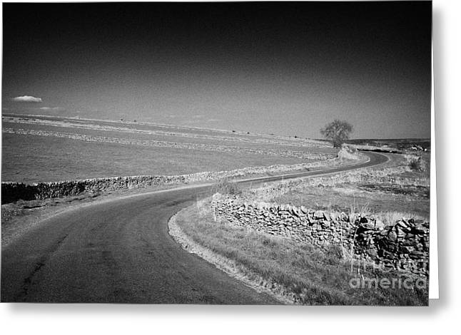 Tranquil Scene Escapism Greeting Cards - Winding B Road Through The Derbyshire Dales Peak District National Park In Derbyshire Greeting Card by Joe Fox