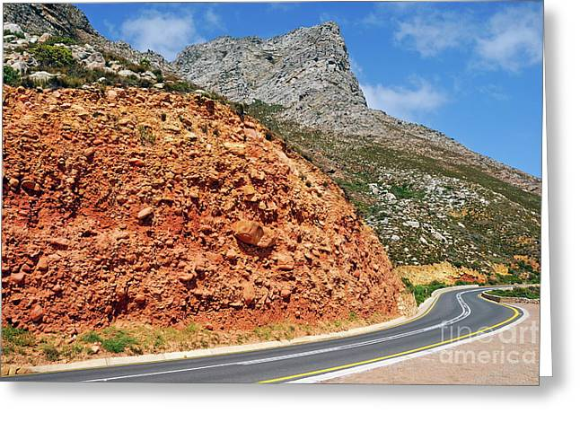 Winding Road Between Gordon's Bay And Betty's Bay Greeting Card by Sami Sarkis