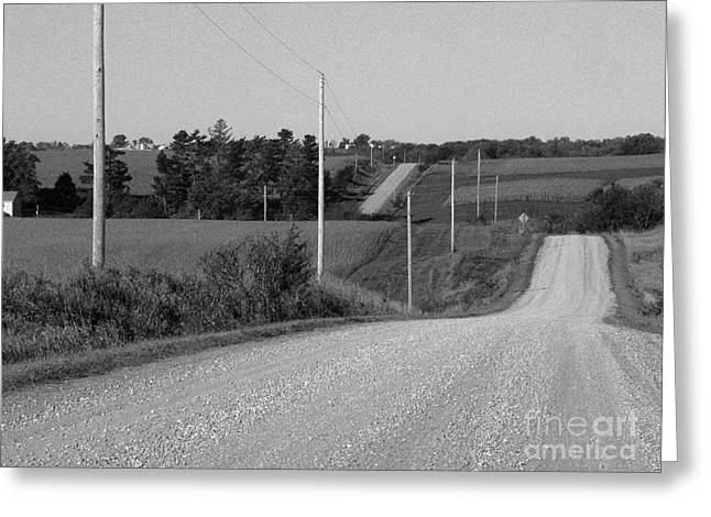 Winding Road Greeting Card by David Bearden