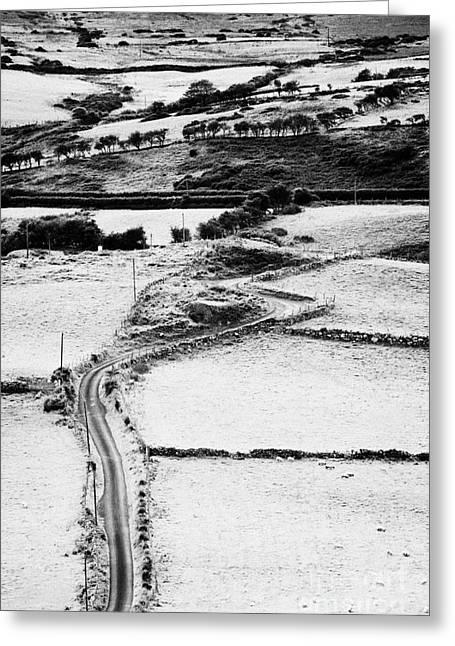 Winding Road Irish Countryside Greeting Card by Joe Fox