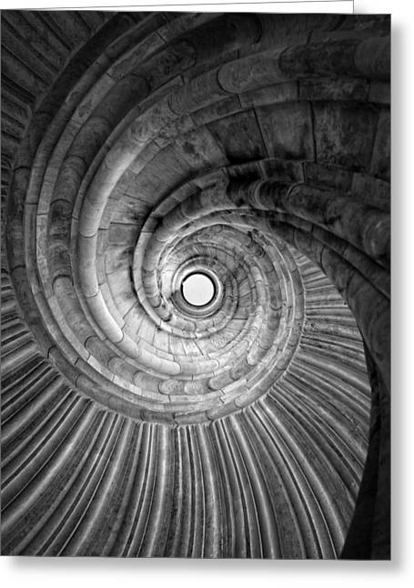 World Wonder Greeting Cards - Winding staircase Greeting Card by Falko Follert