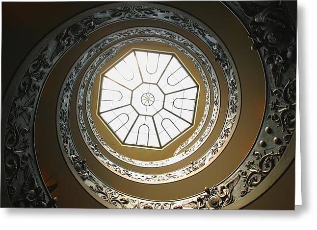 Winding Staircases Greeting Cards - Winding Staircase, Vatican Museums Greeting Card by Carson Ganci