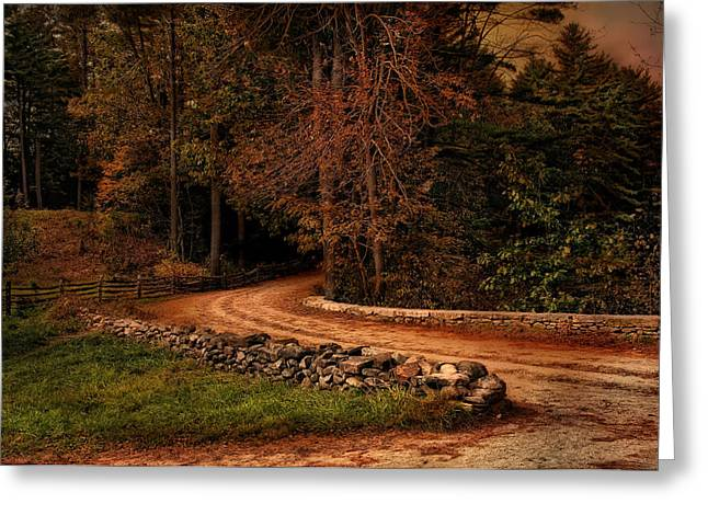 Stonewall Greeting Cards - Winding Through Greeting Card by Robin-lee Vieira