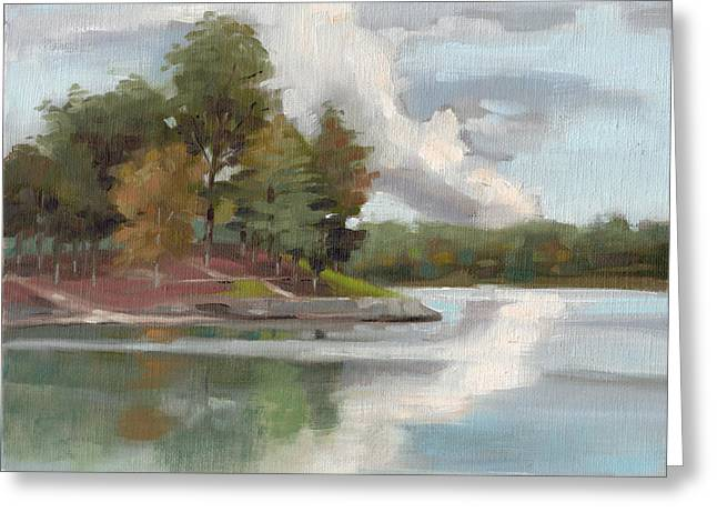 Lake Wylie Greeting Cards - Windjammer Park Greeting Card by Todd Baxter