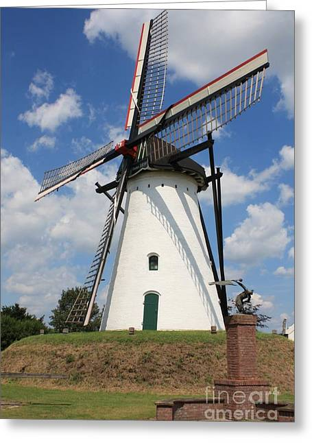 Windmill And Blue Sky Greeting Card by Carol Groenen