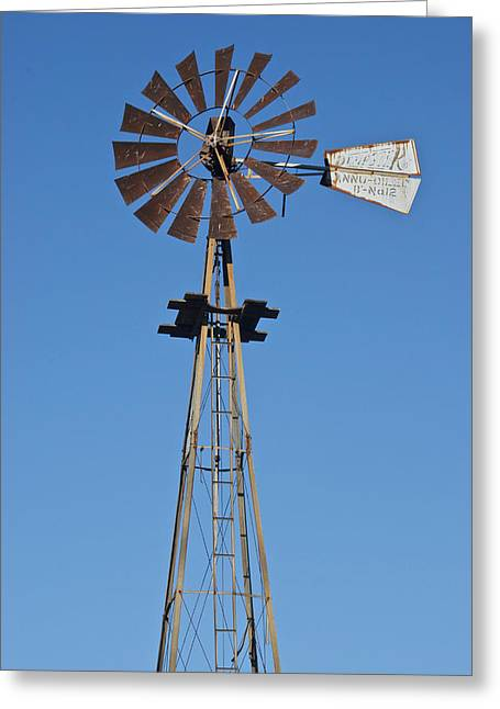 Burton Greeting Cards - Windmill at For-Mar 3489 Greeting Card by Michael Peychich