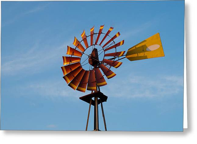Randy Bayne Greeting Cards - Windmill at Sunset Greeting Card by Randy Bayne