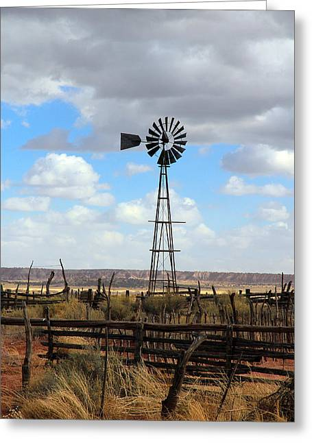 Old Barn Pen And Ink Greeting Cards - Windmill Greeting Card by Athena Mckinzie