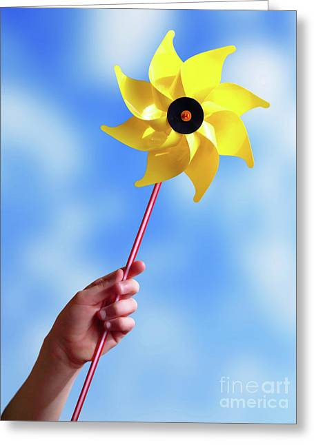 Rotation Photographs Greeting Cards - Windmill Greeting Card by Carlos Caetano
