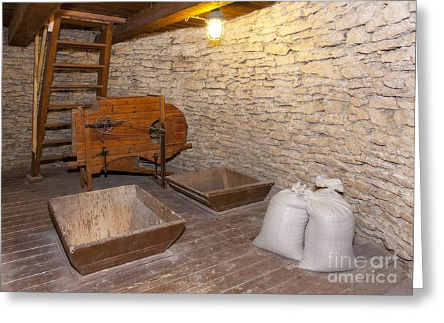 Windmill Interior With Stone Walls Greeting Card by Jaak Nilson