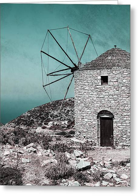 Sea View Greeting Cards - Windmill Greeting Card by Joana Kruse