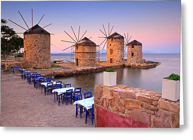 Windmills 2  Greeting Card by Emmanuel Panagiotakis
