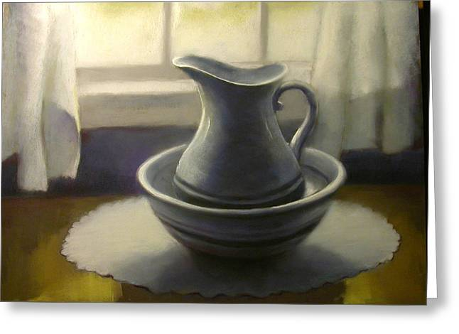 Bowl Pastels Greeting Cards - Window at Bel Meadow Greeting Card by Judy Albright