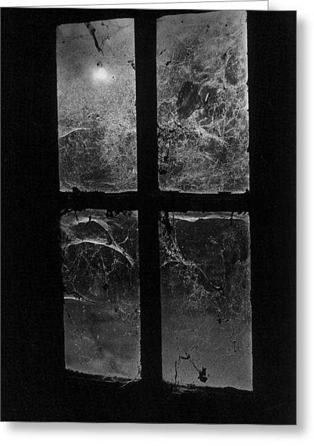 Ghostly Greeting Cards - Window at Castle Frankenstein Greeting Card by Simon Marsden