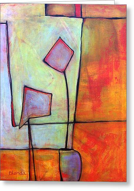 Abstract Picture Greeting Cards - Window Dressing Greeting Card by Blenda Studio