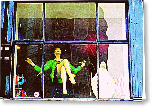 Window Display Greeting Cards - Window Dressing Greeting Card by Randall Weidner