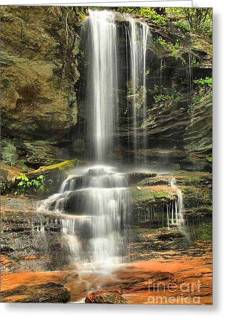 Ledge Photographs Greeting Cards - Window Falls Cascade Greeting Card by Adam Jewell