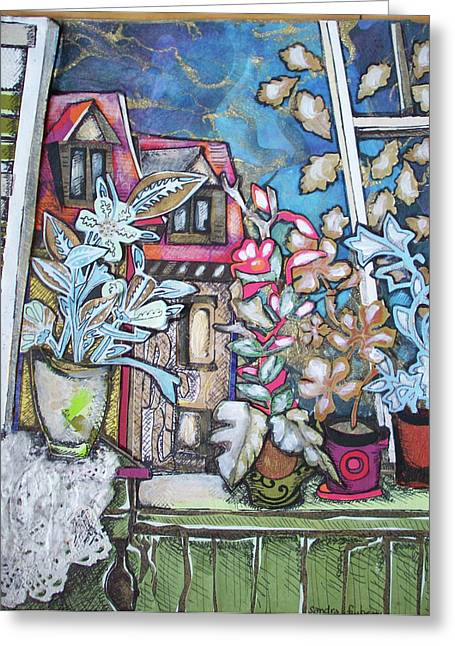 Intricate Cuts Greeting Cards - Window in France Greeting Card by Sandra fw Beaty