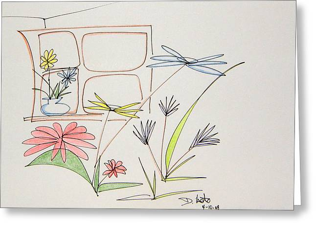 Denny Casto Greeting Cards - Window in my room Greeting Card by Denny Casto