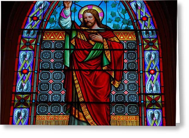 Window In Trinity Church IV Greeting Card by Steven Ainsworth