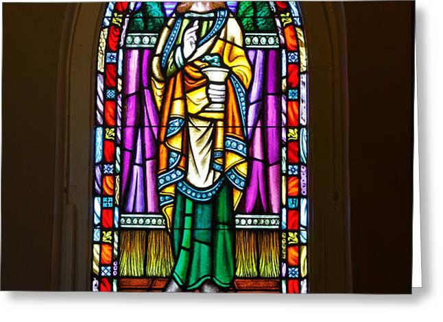 Window In Trinity Church V Greeting Card by Steven Ainsworth