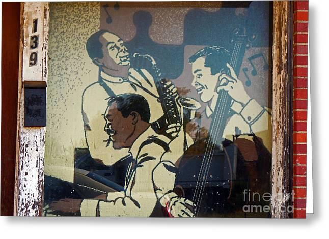 Window Art Greeting Cards - Window Jazz Greeting Card by Joy Tudor