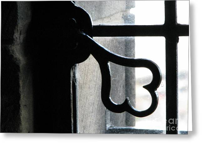 Hardware Greeting Cards - Window latch Greeting Card by Amanda Barcon