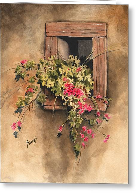 Window Frame Greeting Cards - Window Niche Greeting Card by Sam Sidders