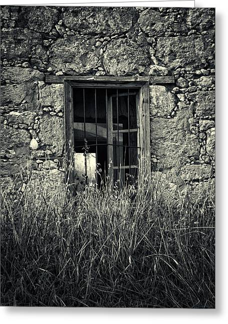 Antiquated Greeting Cards - Window Of Memories Greeting Card by Stylianos Kleanthous
