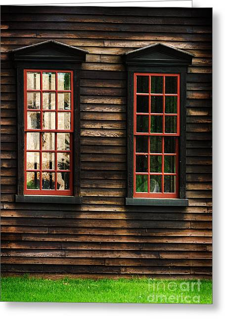 Deerfield Greeting Cards - Window of New England Greeting Card by HD Connelly
