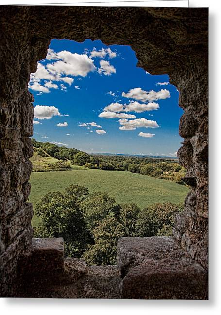 Field. Cloud Digital Art Greeting Cards - Window on the Past Greeting Card by Chris Lord