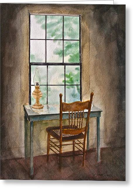 Olson House Greeting Cards - Window Seat Greeting Card by Frank SantAgata