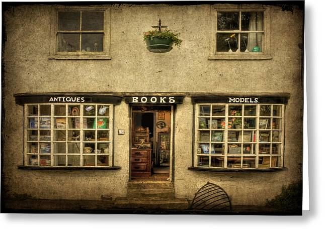 Entrance Shop Front Greeting Cards - Window Shopping Greeting Card by Evelina Kremsdorf