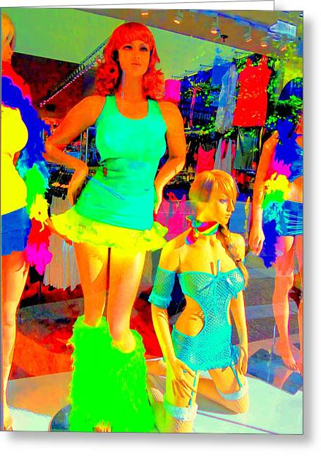 Window Display Greeting Cards - Window Shopping IS THAT KATHY GRIFFIN Greeting Card by Randall Weidner
