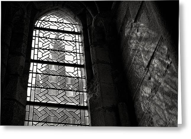 Michel Greeting Cards - Window to Mont St Michel Greeting Card by Dave Bowman