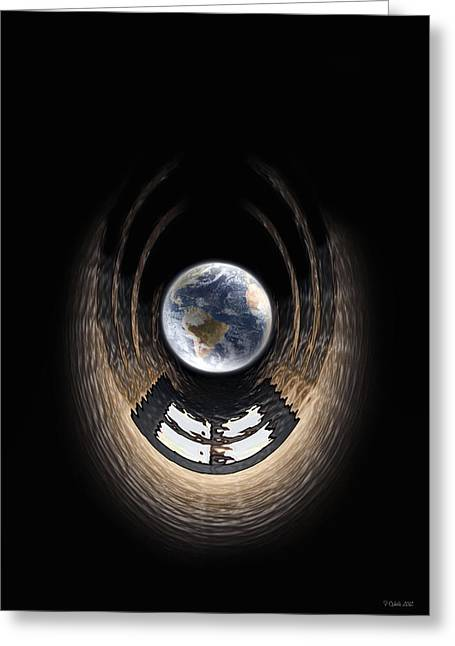 Warp Digital Art Greeting Cards - Window To My World Greeting Card by Peter Chilelli