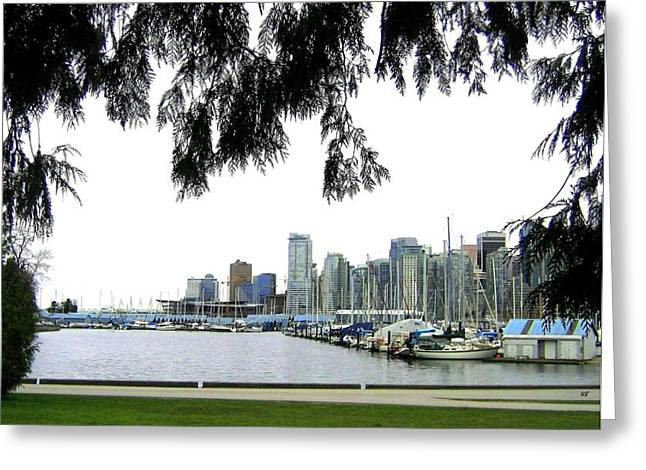 Window To The Harbor Greeting Card by Will Borden