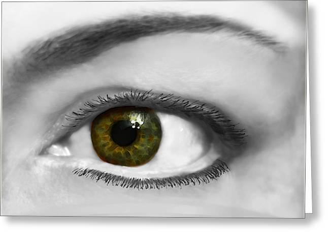 Window To The Soul Greeting Card by Debbie Portwood