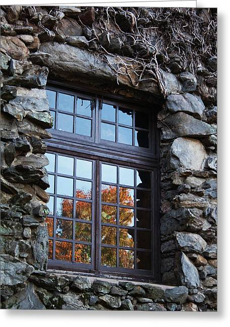 Grove Park Inn Greeting Cards - Window to the World Greeting Card by Sandi Blood