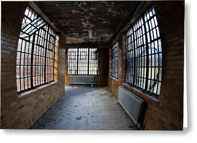 Best Sellers -  - Psychiatric Greeting Cards - Window Walkway Greeting Card by Roni Chastain