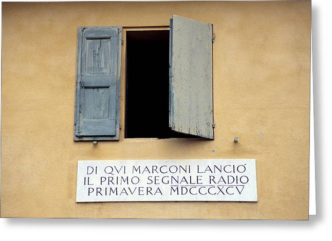 Guglielmo Greeting Cards - Window Where Marconi Transmitted Radio Greeting Card by Sheila Terry
