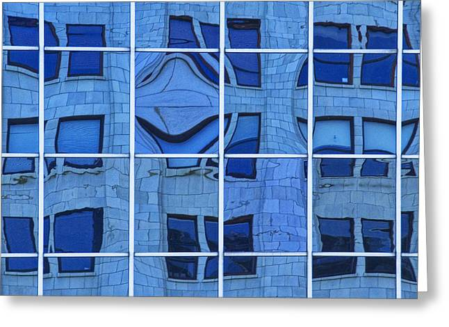 Distortion Greeting Cards - Windows and Reflections No.02  Greeting Card by Randall Nyhof