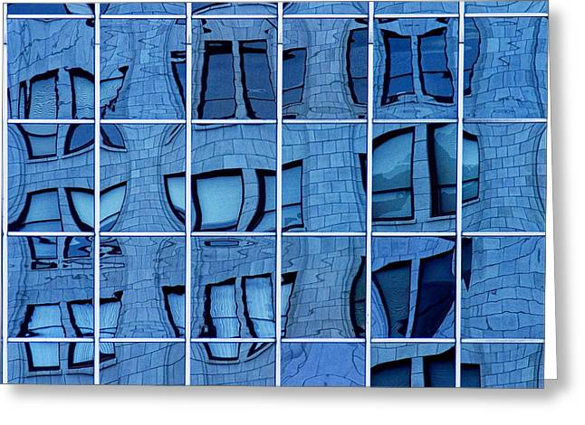 Distortion Greeting Cards - Windows and Reflections No.053 Greeting Card by Randall Nyhof