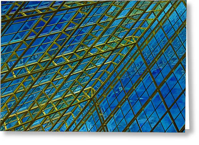 Distortion Greeting Cards - Windows and Reflections No.1058 Greeting Card by Randall Nyhof