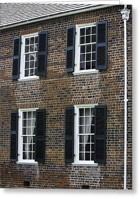 Windows At The Clover Hill Tavern Appomattox Virginia Greeting Card by Teresa Mucha
