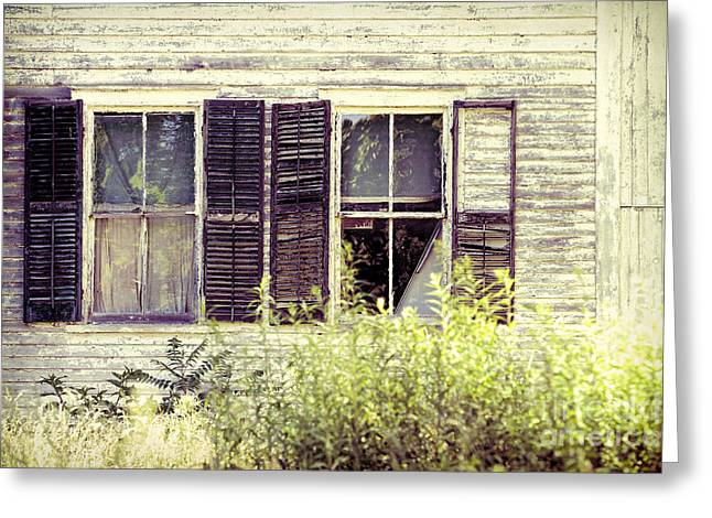 Broken Shutters Greeting Cards - Windows Greeting Card by HD Connelly