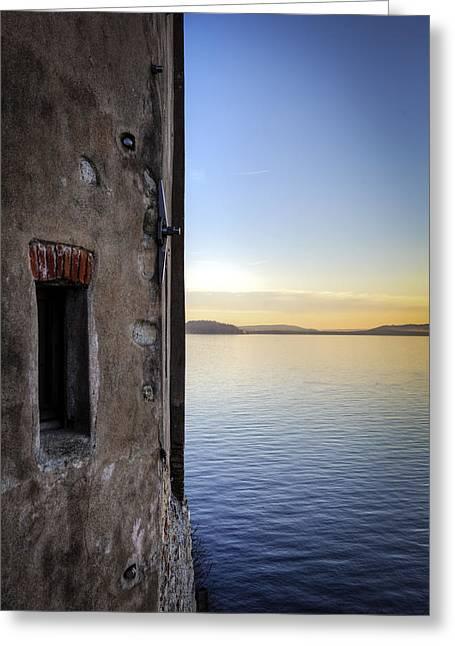 Masonry Greeting Cards - Windows Of A Monastery Greeting Card by Joana Kruse
