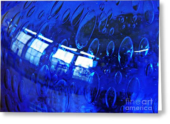 Raw Photography Greeting Cards - Windows Reflected on a Blue Bowl 3 Greeting Card by Sarah Loft