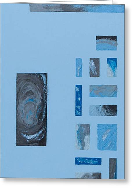 Tsunami Mixed Media Greeting Cards - Windows to Earth Greeting Card by Alison Quine
